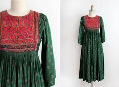R E S E R V E D vintage 1970s dress // 70s by TrunkofDresses