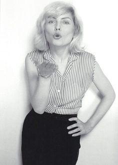 Debbie Harry photographed by Mick Rock Blondie Debbie Harry, Women In Music, Joan Jett, Iconic Women, The Most Beautiful Girl, Black White Photos, Female Singers, Celebs, Celebrities