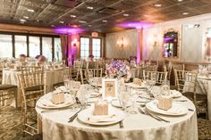 The Hunt Room all dressed up for James and Kate's rustic wedding! Photo by Christy Nicole Photography