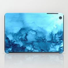 """""""Into Eternity, Turquoise"""" by Ebi Emporium #Society6, Fine Art Abstract Watercolor Painting Modern Tech Device Case, iPad Cover, iPad Case, iPad Mini Contemporary Indigo Navy Royal Blue Aqua Cerulean Turquoise Whimsical Landscape Summer #EbiEmporium #colorful #fineart #iPadMini #iPadcase #case #cover #tech #device #techie #blue #aqua #cerulean #turquoise #nature #outdoors #watercolor #painting #blue #contemporary"""
