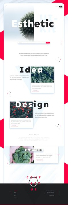 Esthetic UI Kit - Homepage