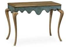 "Maran 48"" Console, Antiqued Teal"
