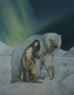 Picturing Winter, a Solstice Celebration Character Art, Character Design, East Of The Sun, His Dark Materials, Bear Art, Whimsical Art, Spirit Animal, Traditional Art, Polar Bear