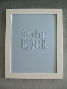 Light Blue 'At The Beach' Typography Collage. $40.00, via Etsy.