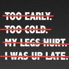 No Excuses!! eat-well-and-run