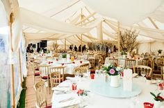 Clear walls create the illusion of open sides whilst keeping guests warm, and the tent looking its most inviting.