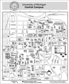 Campus Maps 202 South Thayer Building University of Michigan