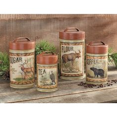 Cabin Canister Set - Set of 4