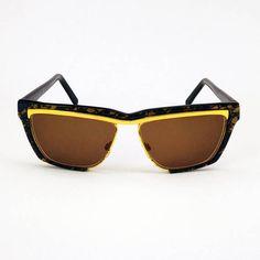 SALDI -30% - MARTA MARZOTTO - occhiali originali da sole - vintage anni 80 in perfette condizioni - montatura dorata e fantasia
