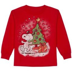 Boys 4-7 Peanuts Snoopy Christmas Tree Tee