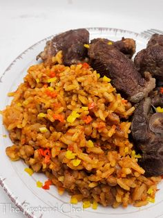 Nigerian Rice and Beans Jollof - The Pretend Chef Nigeria Food, Jollof Rice, How To Cook Beans, Smoked Fish, Fusion Food, Rice Dishes, Pinterest Recipes, Food Network Recipes, Food Inspiration
