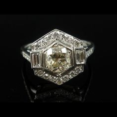 2.25ct OLD CUT DIAMOND CLUSTER 18CT WHITE GOLD RING