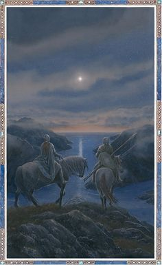 Artwork of the Day: Silmaril that shines now in the West by Alan Lee. Alan Lee, Tolkien Books, J. R. R. Tolkien, Fantasy World, Fantasy Art, Alchemy Art, Fanart, Into The West, Principles Of Art
