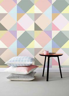 Self adhesive wallpaper , temporary wallpaper,removable wallpaper, geometric wallpaper , geometric pattern,peel and stick wallpaper 144