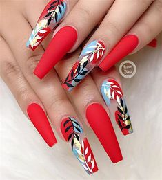 red nails short / red nails _ red nails acrylic _ red nails design _ red nails glitter _ red nails coffin _ red nails short _ red nails acrylic coffin _ red nails with rhinestones Red Acrylic Nails, Summer Acrylic Nails, Pastel Nails, Nail Swag, Stylish Nails, Trendy Nails, Short Red Nails, Red Nail Designs, Unique Nail Designs