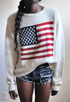america usa sweater- AFROPOLITAN