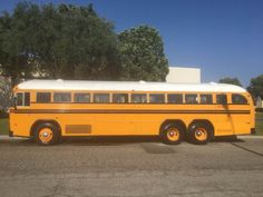 Old School Bus, School Buses, Busses, Tandem, Public Transport, Motorhome, Vintage Cars, Transportation, Tourism
