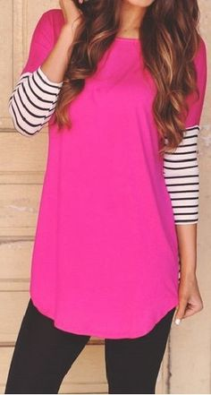 Pink with Stripes