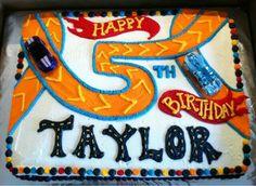 Hot wheels birthday party cake