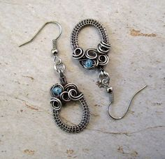 Sterling Silver earrings / Wire Wrapped Earrings / Wire Wrap
