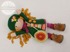 This listing is for an extensive PDF file which contains full instructions for crocheting and finishing off the doll IDA.