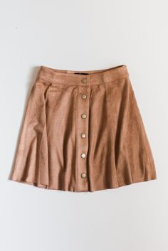 Suede Button Skirt Clothing, Shoes & Jewelry - Women - leggings outfit for women - http://amzn.to/2kxu4S1
