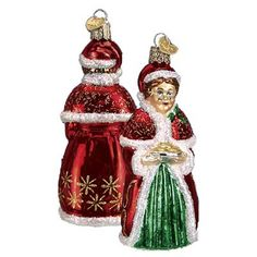 """Mrs. Claus Merck Family's Old World Christmas Ornaments 10177 - Introduced 2009 Made of mouth blown glass and hand painted. Measures approximately 4 3/4""""  #trendytree #owc"""