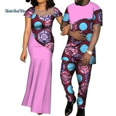 Wholesale Party Wedding Dresses Pursure Cotton African Style Traditional Party Dress Clothing For Women And Men - Buy Traditional Party Dress,Wholesale African Style Clothing,Pursure Cotton Cou Couples African Outfits, Latest African Fashion Dresses, African Dresses For Women, Couple Outfits, African Print Fashion, African Attire, African Dress Designs, Casual Outfits, Casual Jeans