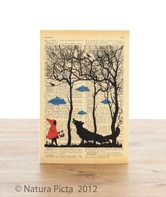 Little red riding hood Greeting Card - 4x6 inch on Ivory Paper  - created by NATURA PICTA