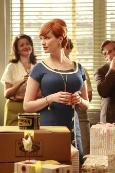 Vestidos pin-up: fotos modelos - Christina Hendricks en Mad Men Christina Hendricks, Betty Draper, Don Draper, Joan Harris, Vestidos Pin Up, Joan Holloway, Beautiful Christina, Chica Cool, Men Tv