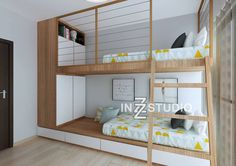 Bunk beds are great ways to add more space to a room, especially if you have a high ceiling. This double deck design is very space efficient as it has storage compartments at the base and at the tips of the bunk allowing more space for clothes, shoes and other items. This is a 3 bedroom condo apartment at La Fiesta. Although this home is predominantly white, there are certain features that make each room pop whether its the furniture or accents. In the masters bedroom, the bed frame and the…