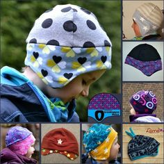 Schnabelinas world: earflap hat pattern Sewing Patterns Free, Free Sewing, Baby Patterns, Sewing Tutorials, Sewing Projects, Sewing Hacks, Sewing Crafts, Sewing Kids Clothes, Sewing For Kids
