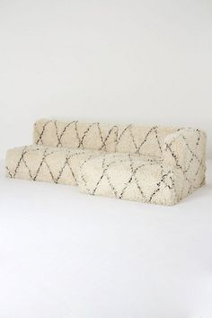 Diamond Shag Sectional Sofa #anthropologie