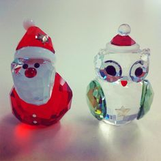 How cute are these two? #Christmas #Swarovski