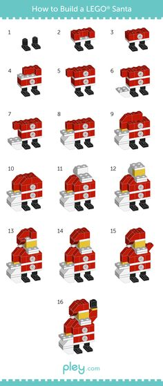 Games Infographics : Illustration Description Pley reveals how to build a LEGO snowman, Christmas Tree and Santa Claus. Pley is the leading online toy rental service specializing in LEGO and other cool, unique toys. Santa Claus Christmas Tree, Kids Christmas, Christmas Crafts, Lego Christmas Ornaments, Santa Clause, Christmas Stuff, Lego Activities, Christmas Activities, Lego Duplo