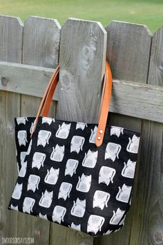 See a diy canvas tote bag with rivets and leather handles. This is a diy canvas tote bag kit that includes several upgrades for the free pattern.