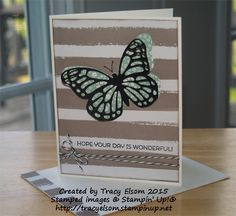 Afbeeldingsresultaat voor stampin up go wild Stampin Up, Diy And Crafts, Xmas 2015, Greeting Cards, Butterfly, Create, Handmade Cards, Paper, Card Ideas