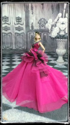 phakhapapha-PKPP-585 Fashion royalty Silkstone Princess Dress Gown Outfit for dolls 12