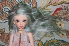 Handmade Alpaca Wig for MNF Nymph Green by aPoemWithNoWords