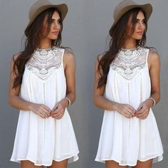 Sleeveless Summer Dress. Adorable but length is too short for me