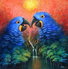 AMOR SIN FIN 124,5 X 120,5 CM. OLEO SOBRE LIENZO  #josemorenoaparicio #arte #art #morenoaparicio #oleo #oil #arte mexico #cuernavaca #artistaboliviano #bolivia #selva #amazonas #color #piezacolorida #pintura #painting #color #artecontemporaneo #contemporaryart