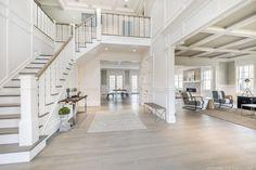 ~ Foyer Entrance Design Luxury Home Staircase Idea with Chandelier / Coastal Home Decor Designs for Beach Houses / Home Decor Ideas / Traditional Staircases / Grand Staircase Foyer Staircase, Staircase Design, Staircase Ideas, Stair Idea, Luxury Staircase, Stair Railing, Entrance Design, House Entrance, Entrance Ideas