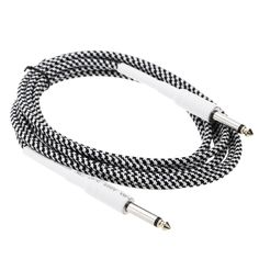 16ft / 5m 6.35mm Mono Male to 6.35mm Mono Male Cable Wire Cord for Guitar Bass Instrument