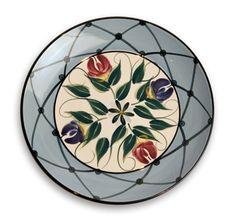 "Gail Pittman Designs_fine tableware and home decor_""annabella"" pattern_ round salad plate"
