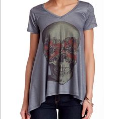 "HOST PICK!  Go Couture Tee Go Coutures ""Sharkbite"" hem style Tee. Actual Tee is in third picture Go Couture Tops"