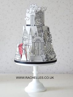 Our collection of wedding cakes pictures showcases an extensive amount of wedding cake ideas to inspire brides for their own wedding cake designs. Fancy Cakes, Cute Cakes, Pretty Cakes, Unique Cakes, Creative Cakes, Gorgeous Cakes, Amazing Cakes, Fondant Cakes, Cupcake Cakes