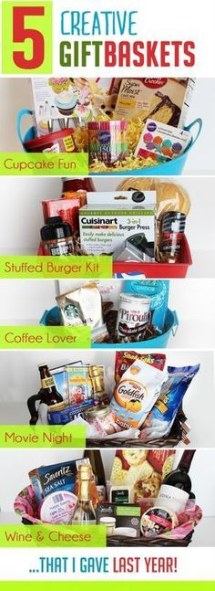 Do it yourself gift basket ideas for all occasions pinterest i love these creative ideas for unique gift baskets especially the cupcake and stuffed burger themed ones solutioingenieria Choice Image