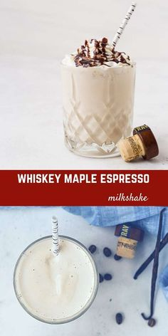If you're ready to take your St. Patrick's Day (or any other day) up a notch, you have to make these maple whiskey milkshakes! The flavors of whiskey, maple, vanilla, and espresso work together in a dreamy way to make this the perfect milkshake. #dessert #milkshake #whiskey