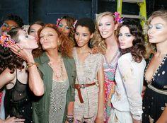Diane von Furstenberg Talks New York Fashion Week Show, Gigi Hadid and Lily Aldridge Gush Over the Designer—Watch!  Diane von Furstenberg, Karlie Kloss, Kendall Jenner, Gigi Hadid, NYFW