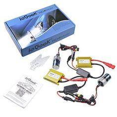 ieGeek® AC Kit de Conversion Slim Xenon HID Set, Ampoule de Rechange, Premium Ballasts et Accessoires Inclus (6000K H7)